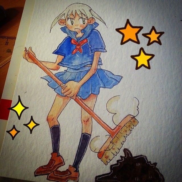 Maka as school girl 0 made the colors more vibrant via insta