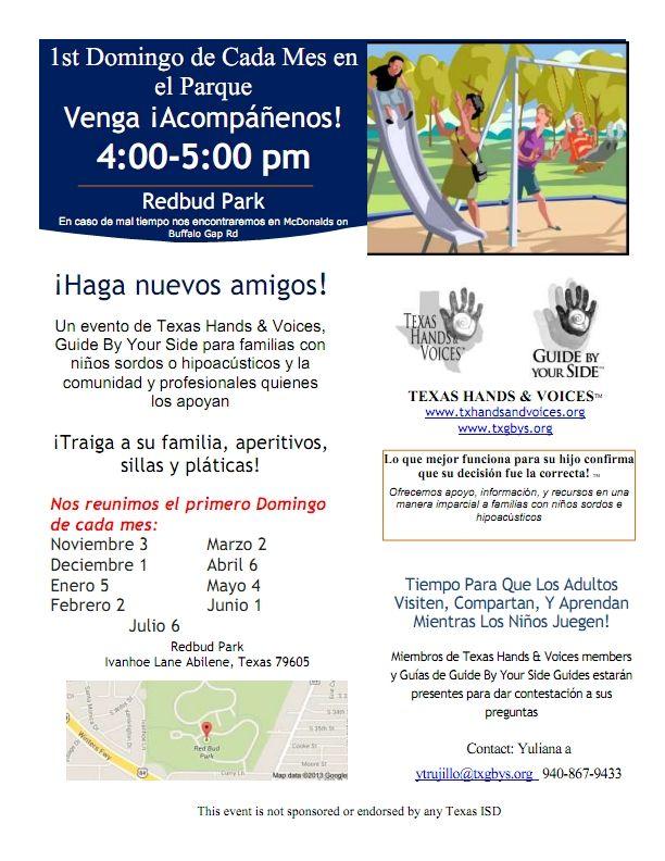 Abilene monthly meetups - Spanish flyer