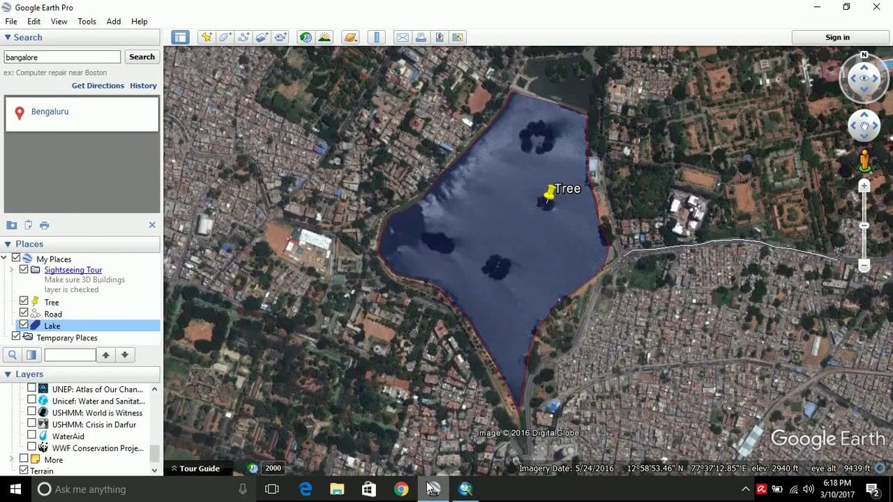 Working with KML and KMZ format / Digitize in Google Earth
