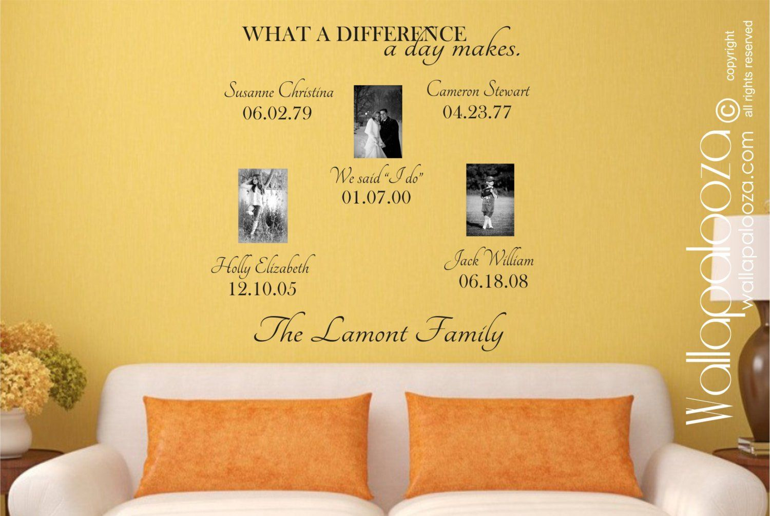 Family Names Wall Decals - Family Moments Wall Decor - Family Wall ...