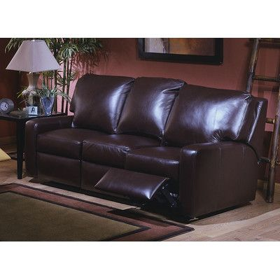 Omnia Furniture Mirage Leather Reclining Sofa Reviews Wayfair