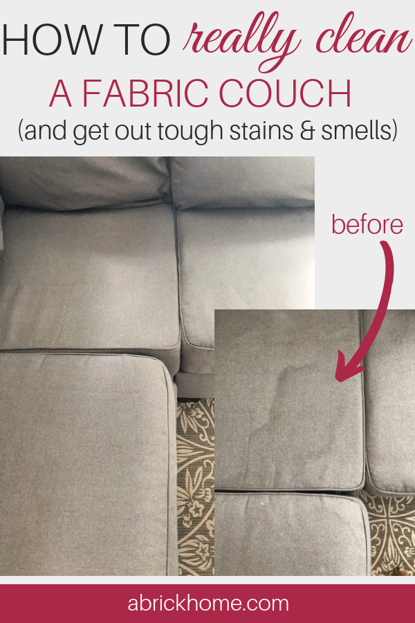 How To Really Clean A Fabric Couch Couch Fabric Cleaning Fabric Cleaning Microfiber Couch