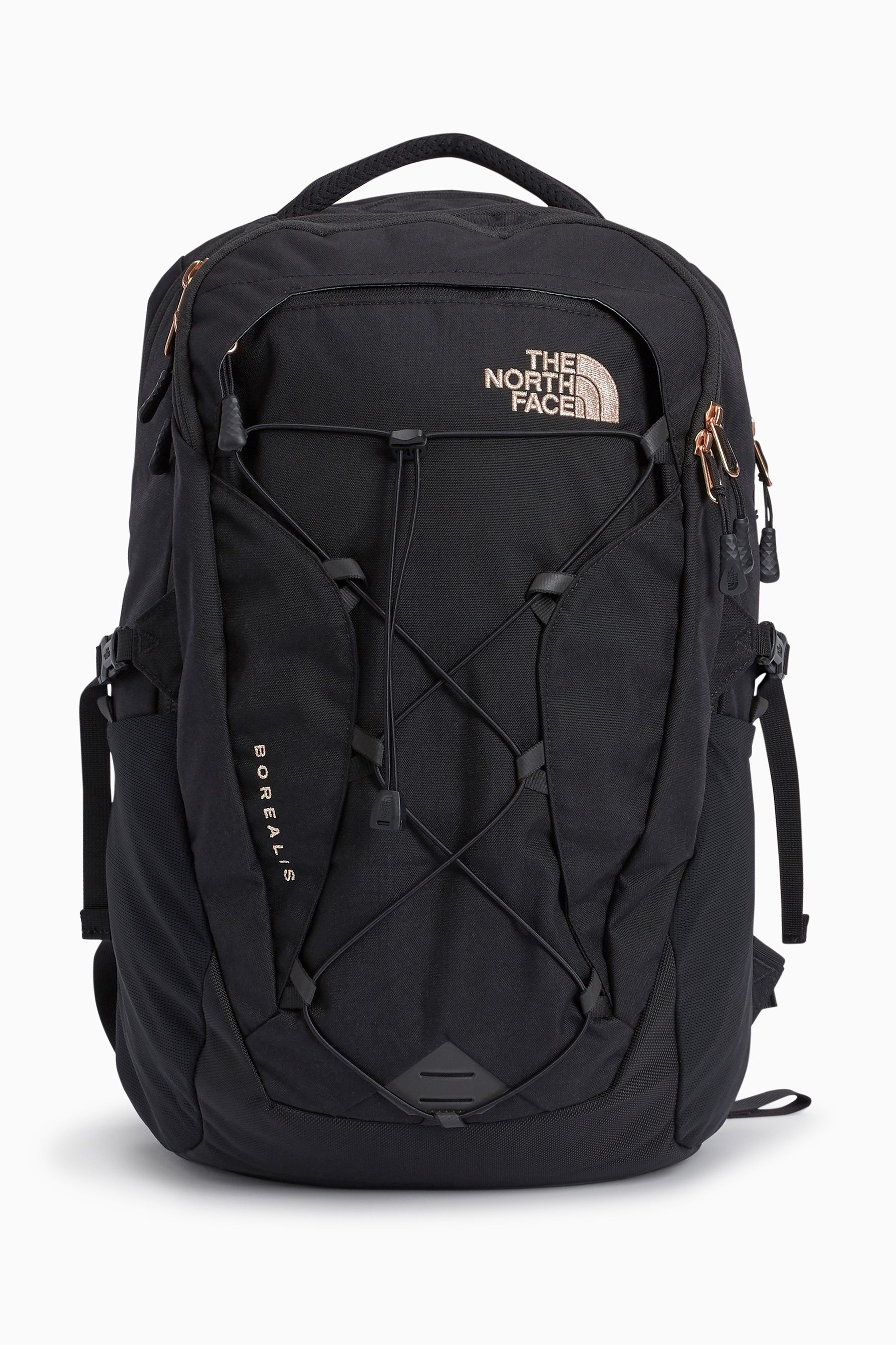 9dc1180c47 Mens The North Face Black Heather Gold Borealis Backpack - Black ...
