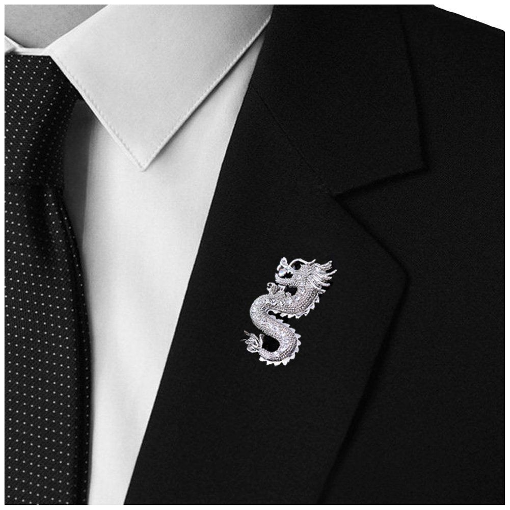 from men accessories pins tide pin wolf brooch shirt time limited head corsage suit jewelry in item for brooches mens decorated s broche collar