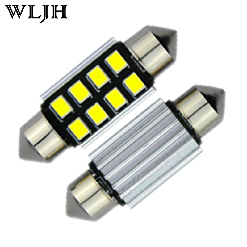 WLJH 2x Led Car Light 2835 SMD Pure White LED 38mm 39mm Canbus Error ...