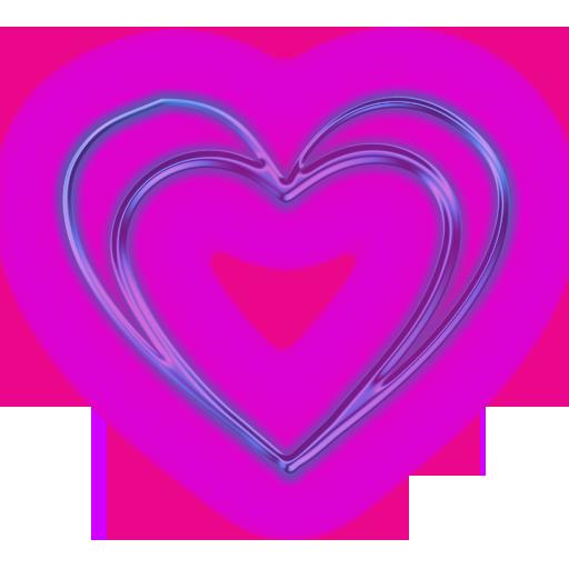 Love Heart Frame Blue Background Image