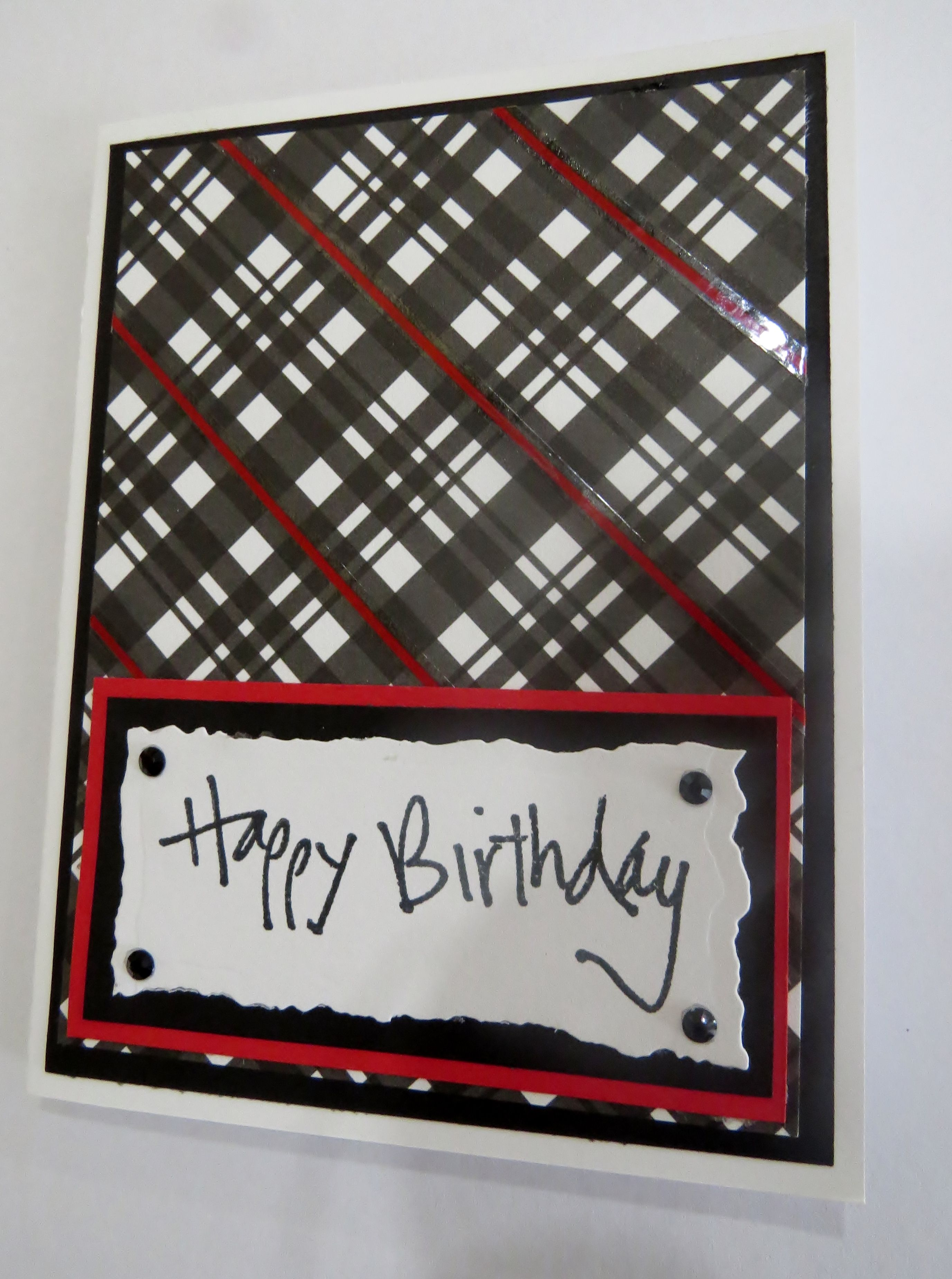 Handmade greeting card black white and red masculine birthday card handmade greeting card black white and red masculine birthday card m4hsunfo