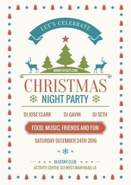 Christmas #Flyer Merry Christmas Party Flyer Template Flyer - Invitation Flyer Template