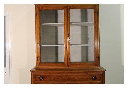 Credenza Rustica Toscana : Credenza doppio corpo vetrina cristalliera libreria 800 rustica