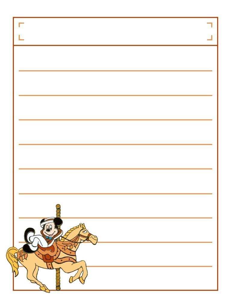 mickey on carousel horse with title box project life disney journal card scrapbooking  [ 768 x 1024 Pixel ]
