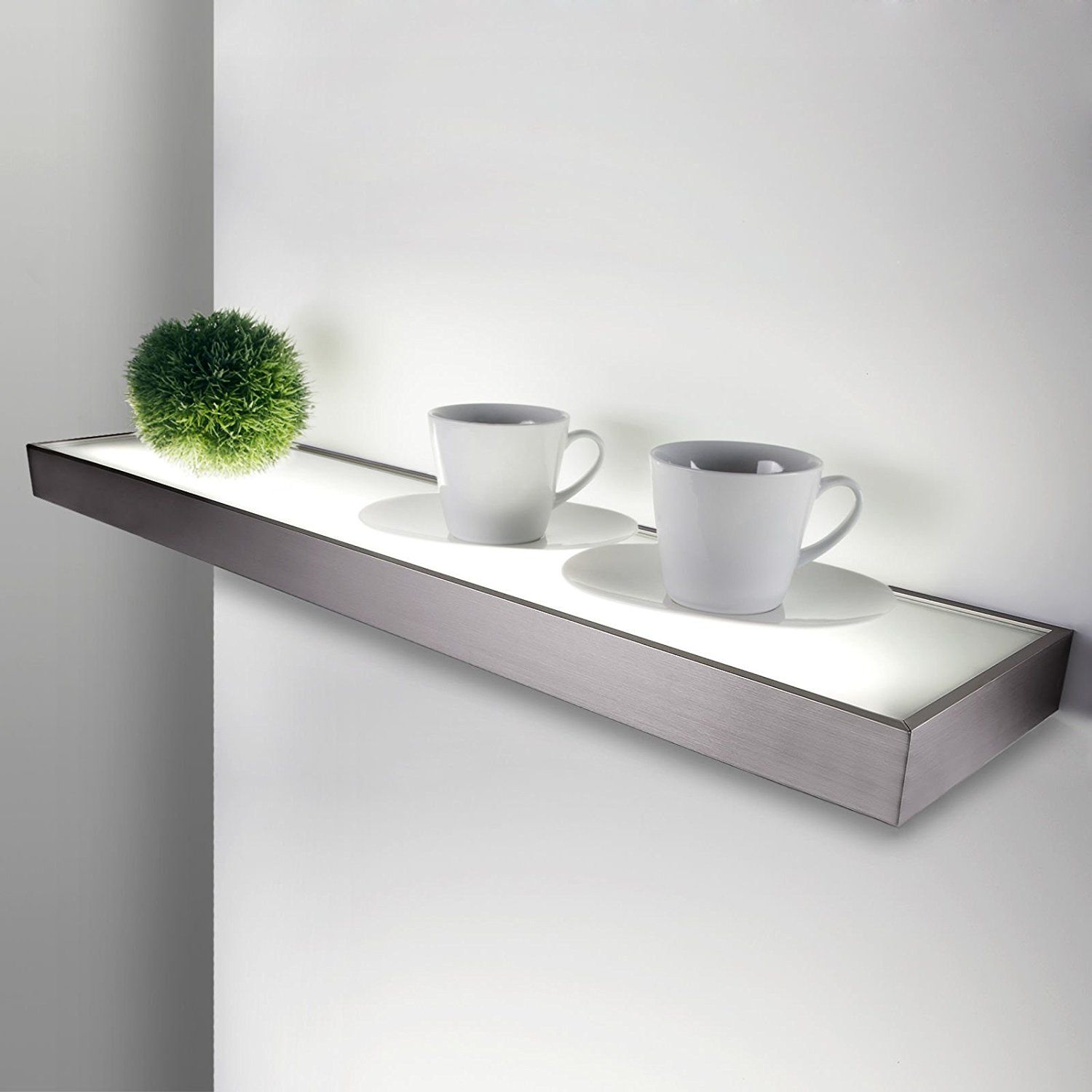 so tech illuminated shelf dallas 1200 x 200 mm 28 watt aspect of stainless steel incl t5 neon. Black Bedroom Furniture Sets. Home Design Ideas