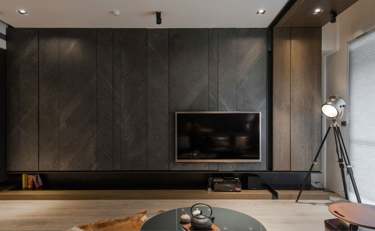 Tv Console Feature Wall Scandinavian Luxe Amp Tropical