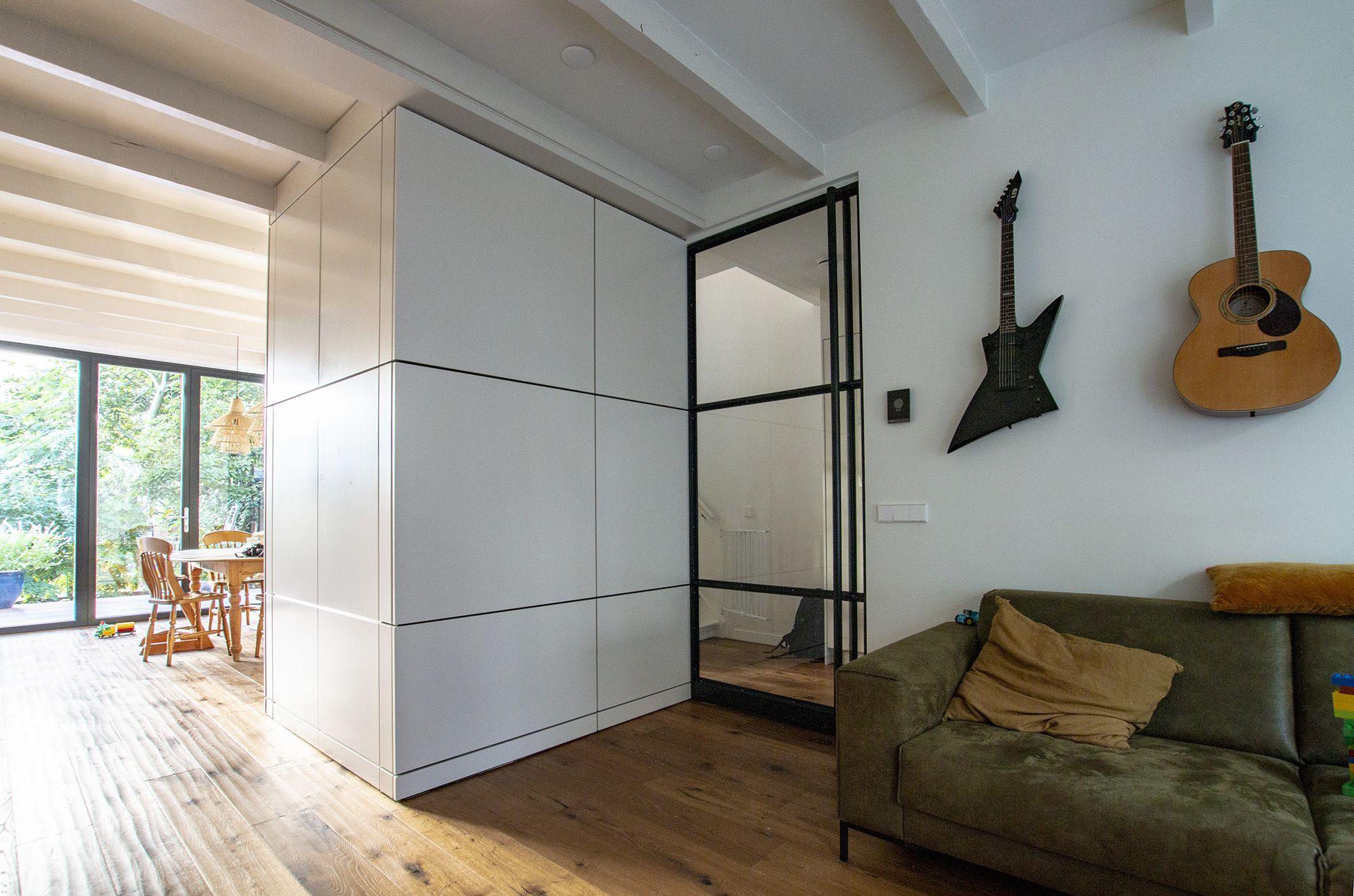 Interieur Verbouwing Hoekpand : Verbouwing interieur amsterdams herenhuis met glazen pui en stalen