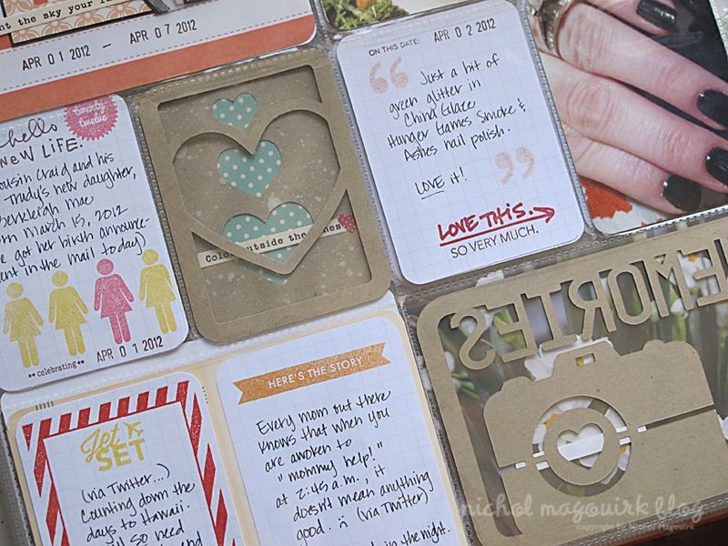 Silhouette journal cards