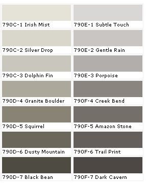 Behr Paint Samples Dolphin Fin For Living And Lower Portion Of Dining Room Irish