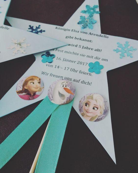 Mottoparty Die Eiskonigin Unsere Einladung Einladungskarten