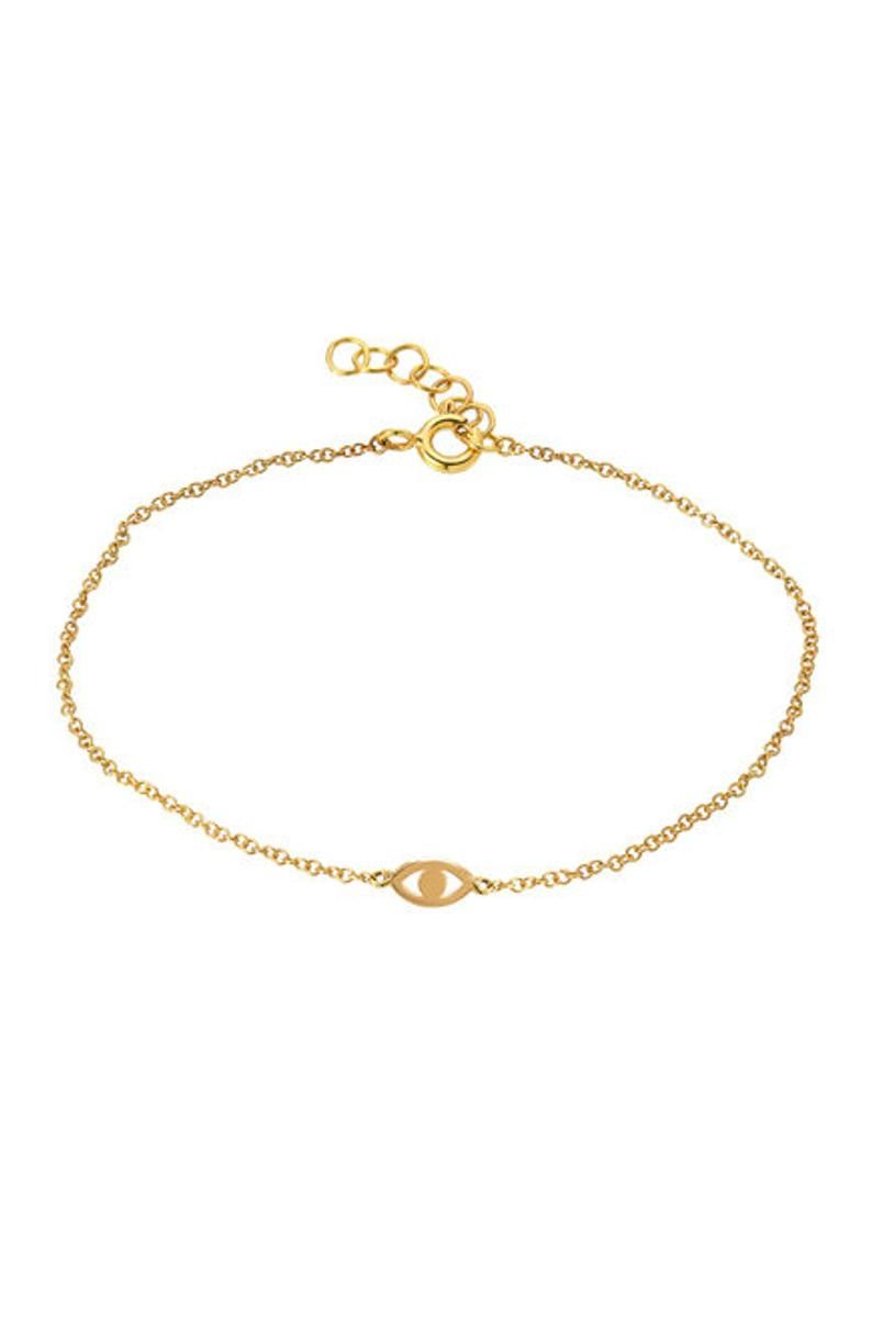 14k Gold Tiny Evil Eye Bracelet Etsy In 2020 Evil Eye Bracelet Initial Bracelet 14k Gold Initial Necklace