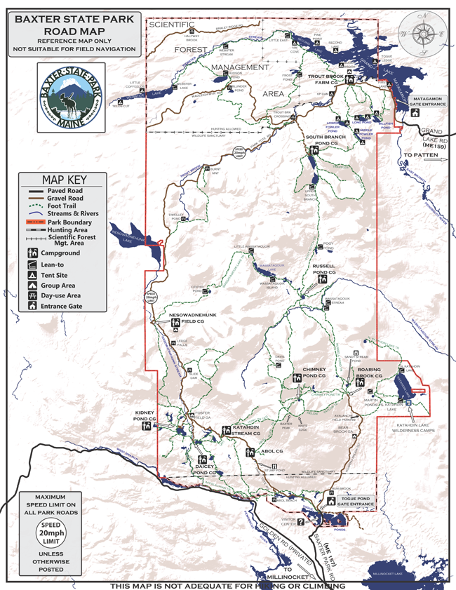 BSP Road Map Aroostook County Maine Pinterest Park