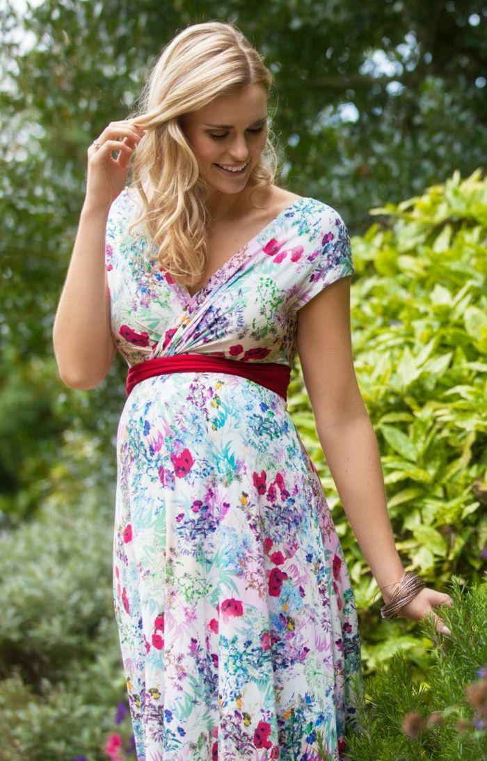 1001 + Ideen für festliche Kleider für Schwangere | 꽃무늬