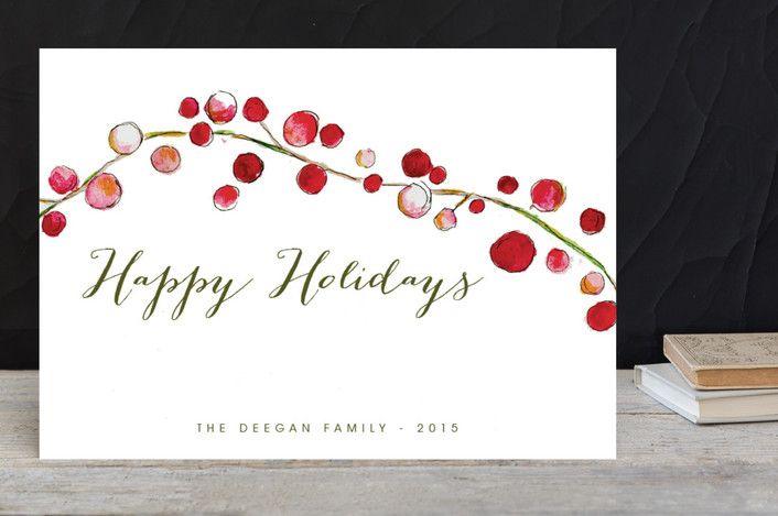 Holly Holidays by Erin Deegan at minted.com