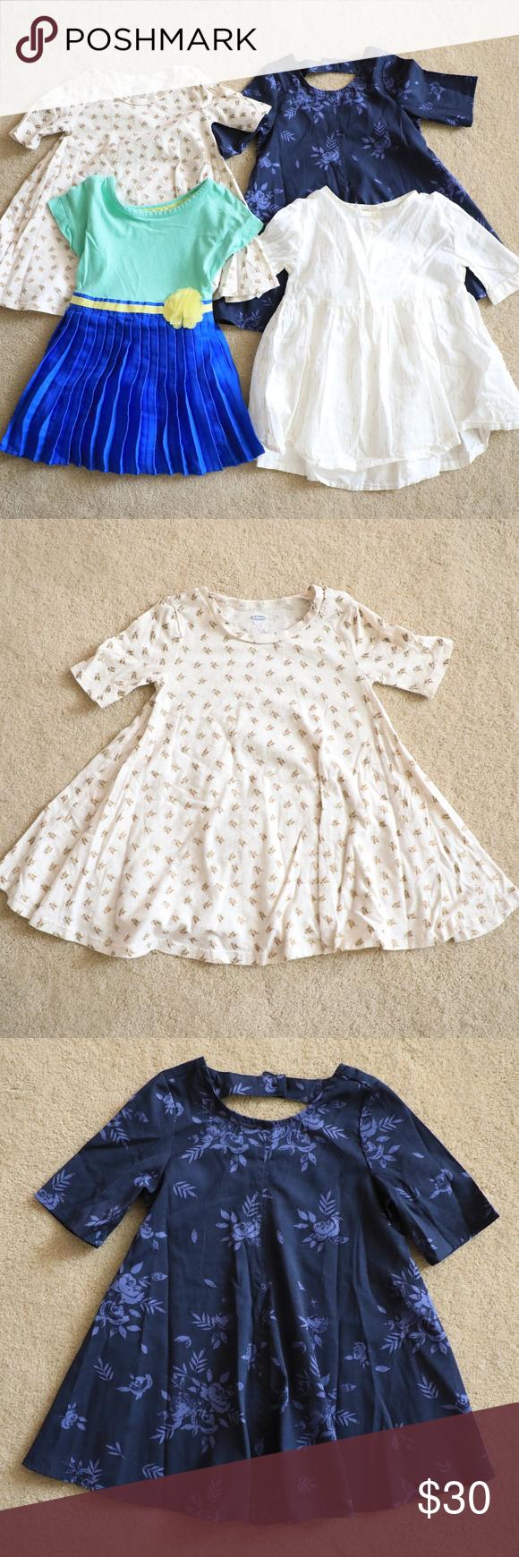 Lot Of 4 Toddler Girl S Dresses 2t Toddler Girl Dresses Floral Blue Dress Girls Dresses [ 1740 x 580 Pixel ]
