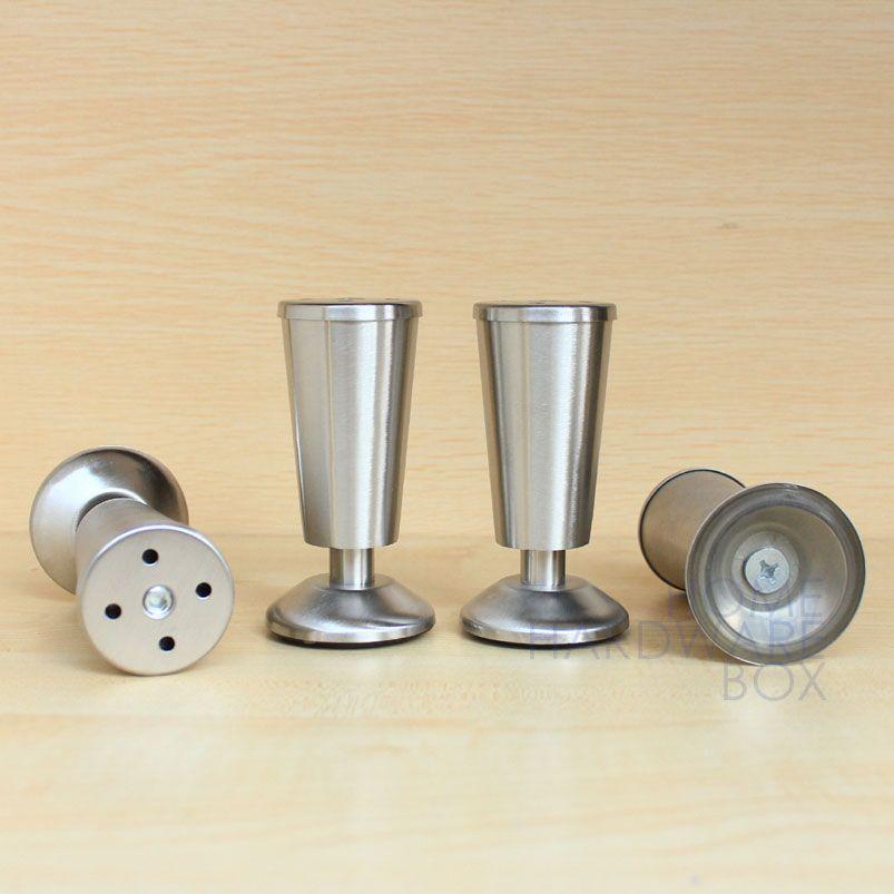 4 Pcs Metal Stainless Steel Legs Furniture Kitchen Cabinet Feet 4 1