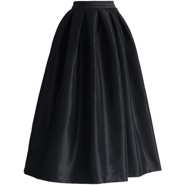 578a1a2661 Chicwish La Diva Pleated Maxi Full Skirt in Black ($39) ❤ liked .