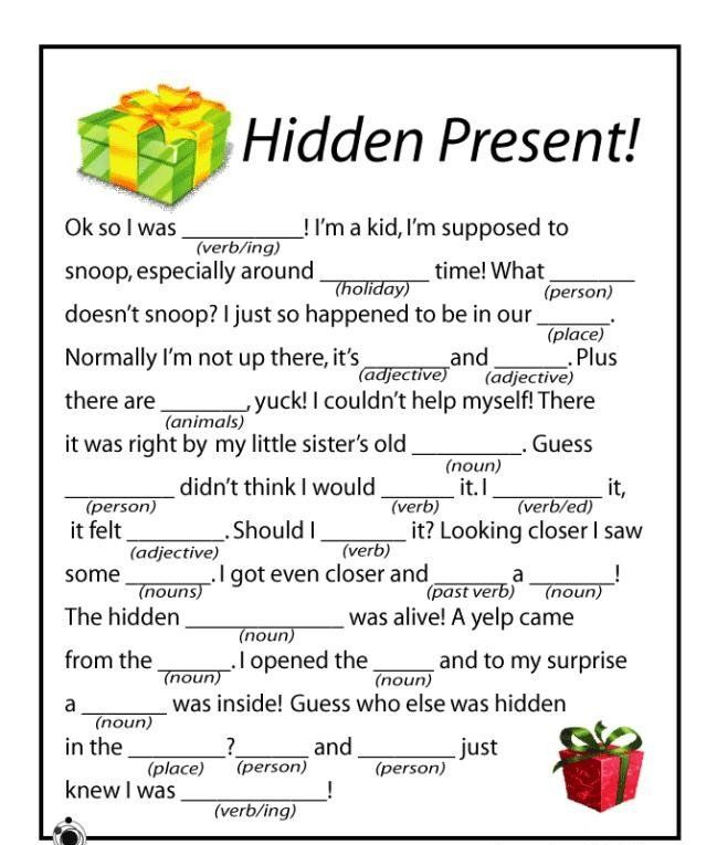 Free Christmas Printable Games Holiday Education Kids