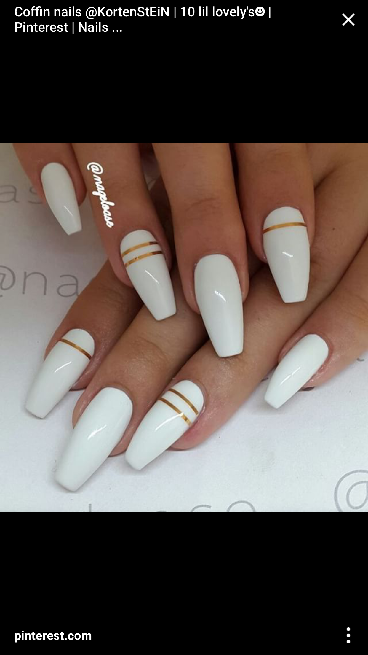 Simple Elegant White Acrylic Nails Coffin Nails Designs Long Nails