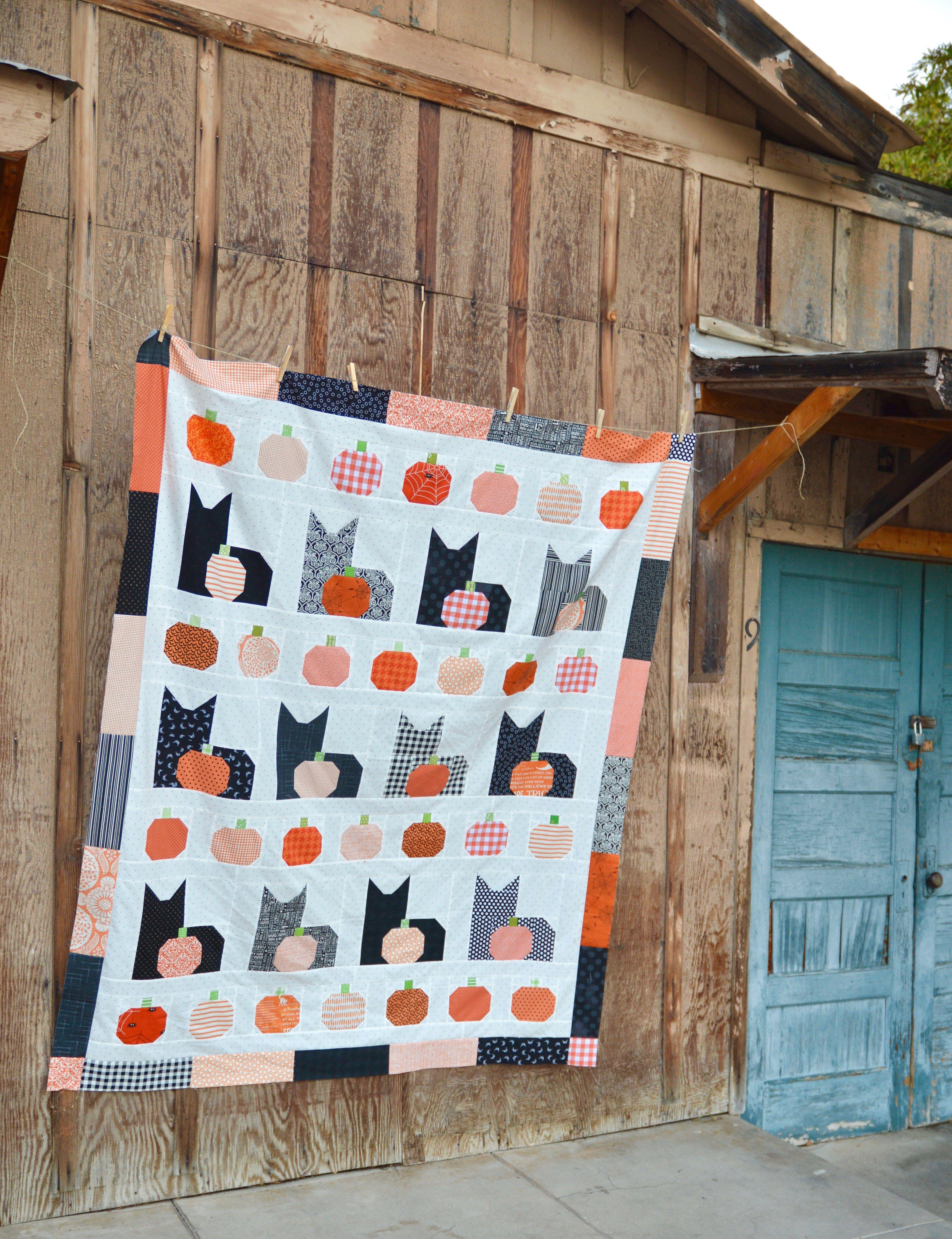 31 Modern Halloween quilts