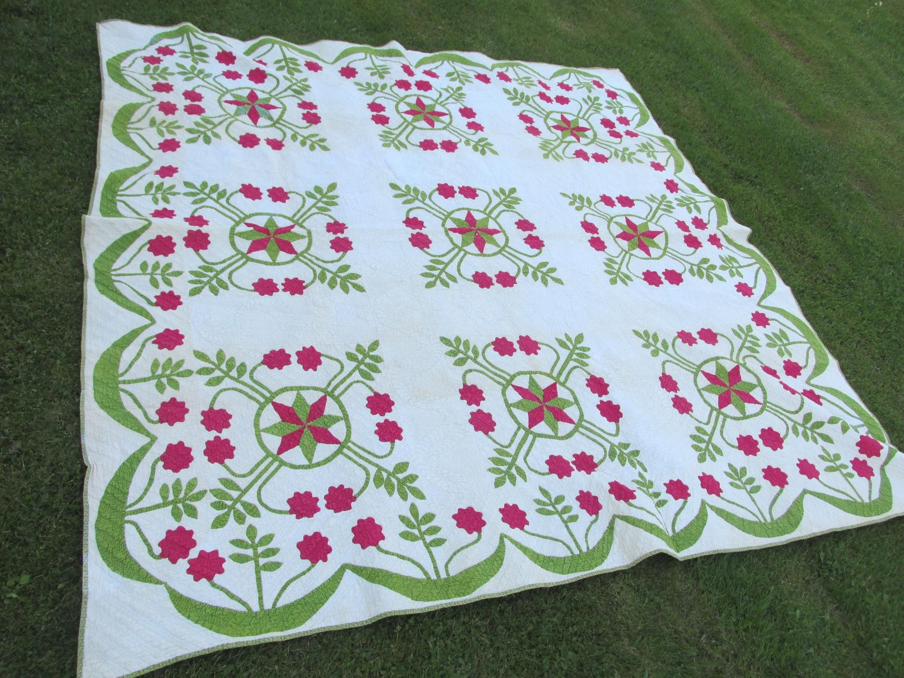 Craft chinese casual country style flower pattern embroidery