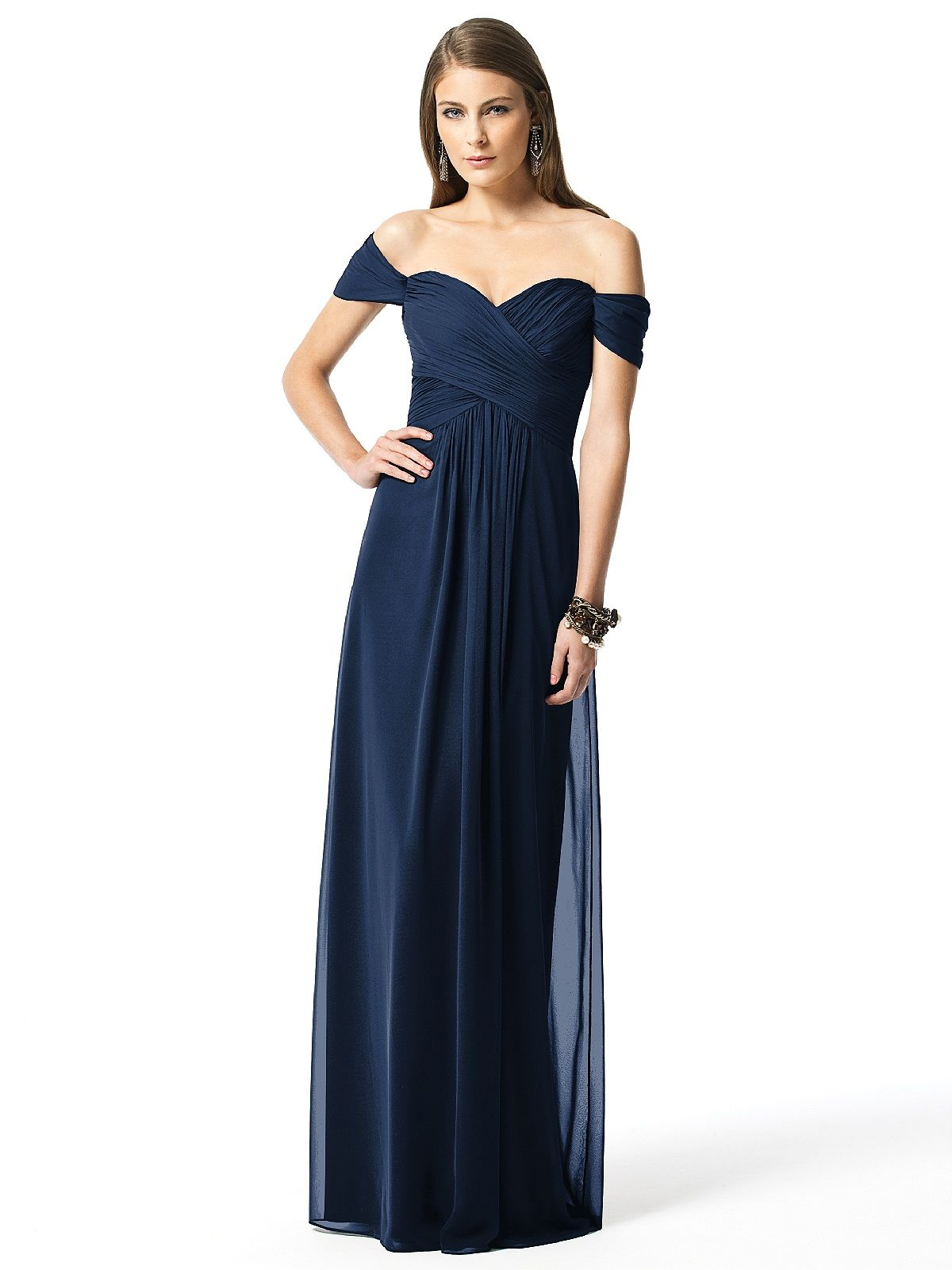 Dessy collection style bodice empire and shoulder