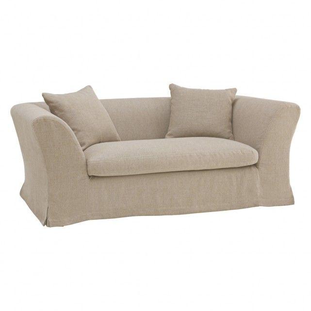 HIGGINSON Natural linen mix 2 seat sofa | Buy now at Habitat UK