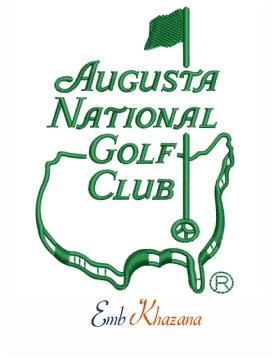 Augusta National Golf Club Logo Embroidery Design Augusta National Golf Club Augusta National Golf Clubs
