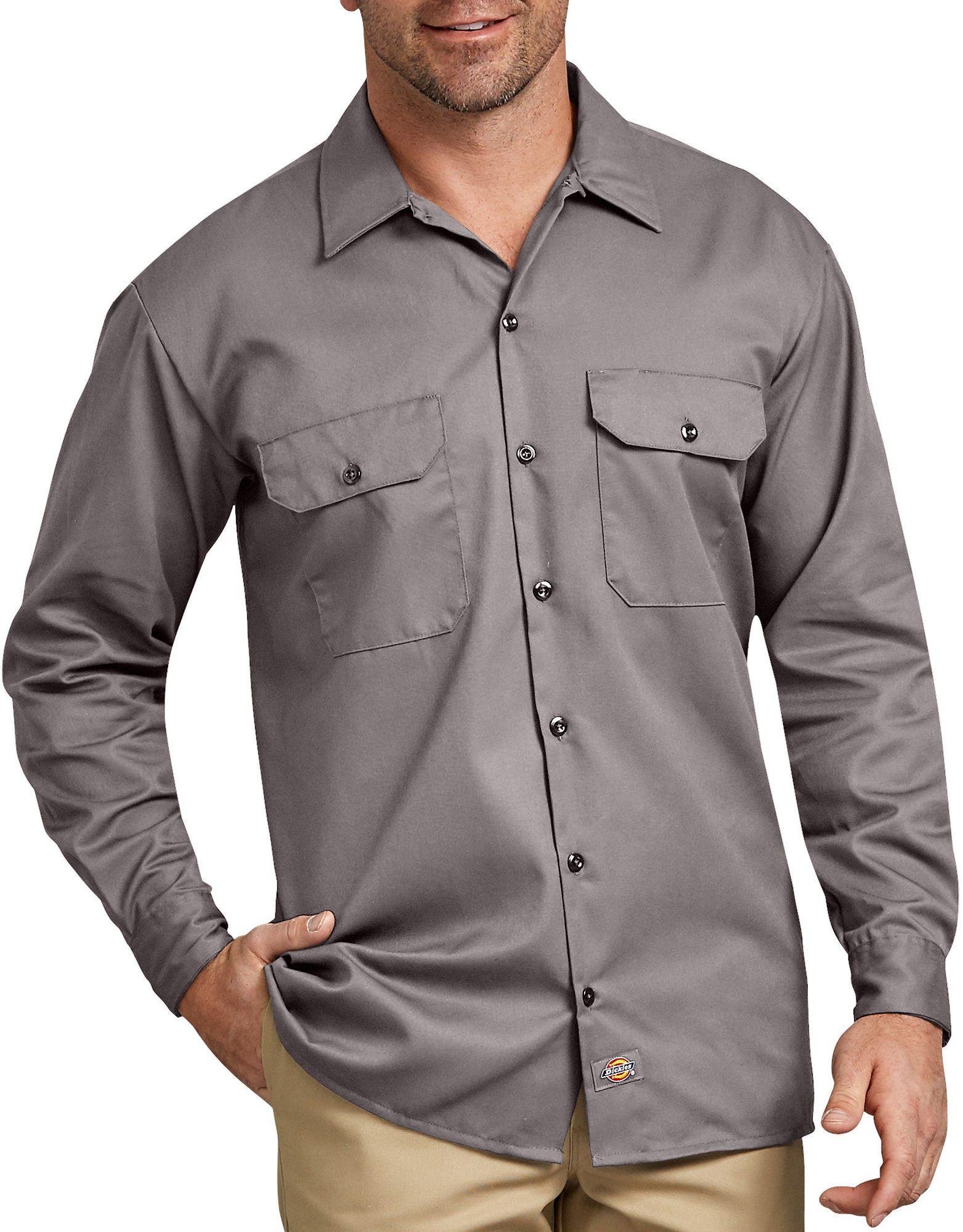 Long Sleeve Work Shirt Mens Shirts Dickies Mens Work Pants Work Shirts Shirts