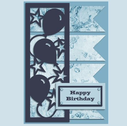 Free Party Frame Birthday Cards Cricut Cards Silhouette Cards