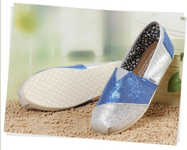 a8920c787e7 Toms Glitter Shoes Womens Silver Blue   Toms Outlet Online