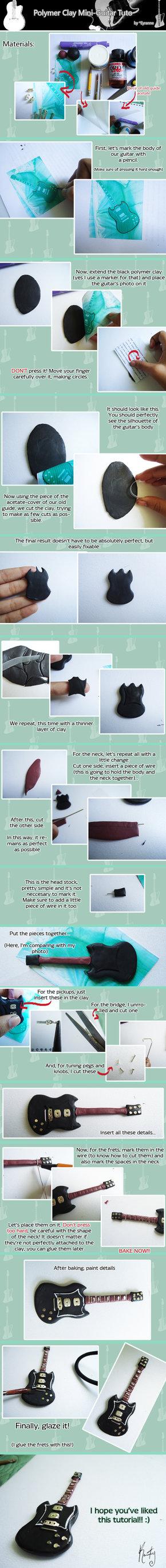 Polymer Clay Guitar Tuto by *Eyranne on deviantART