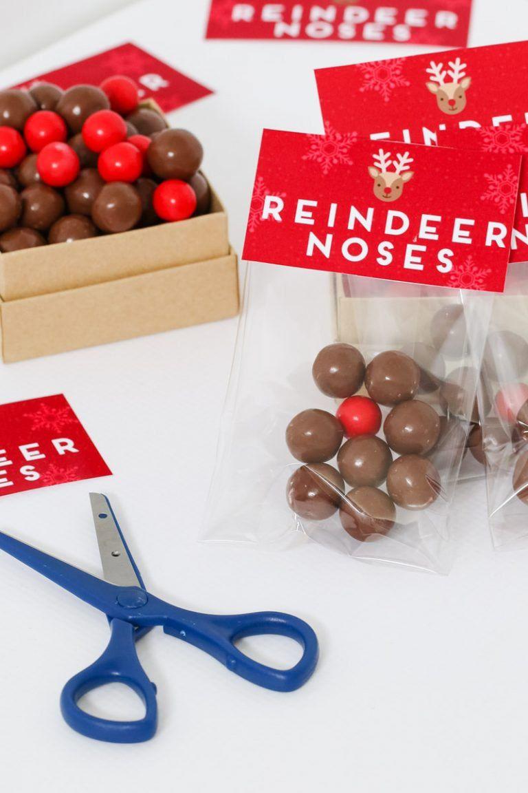 Reindeer Noses - Free Christmas Printable Gift Bag | Candy ...