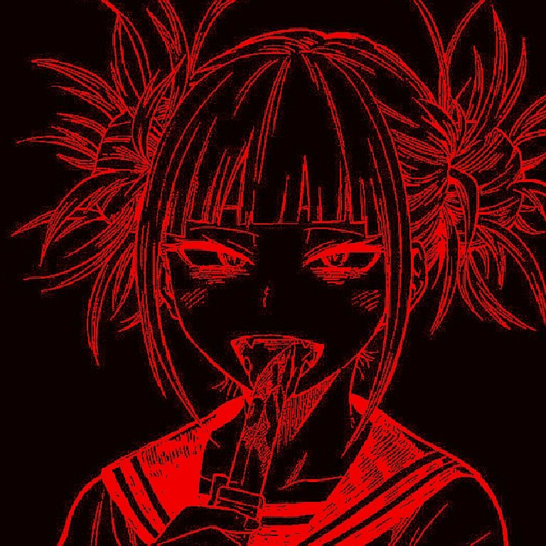 Toga In 2021 Red Aesthetic Grunge Cybergoth Anime Cute Anime Wallpaper Black and red anime wallpaper