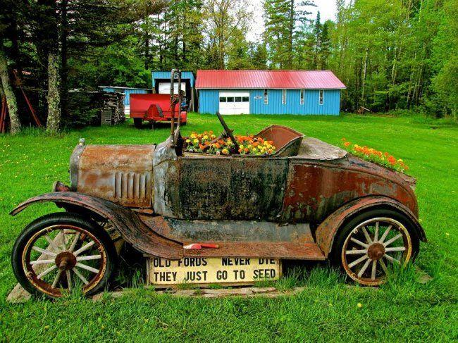 Recycled Ford Model T Garden Model T Organic Fruit Ford Models
