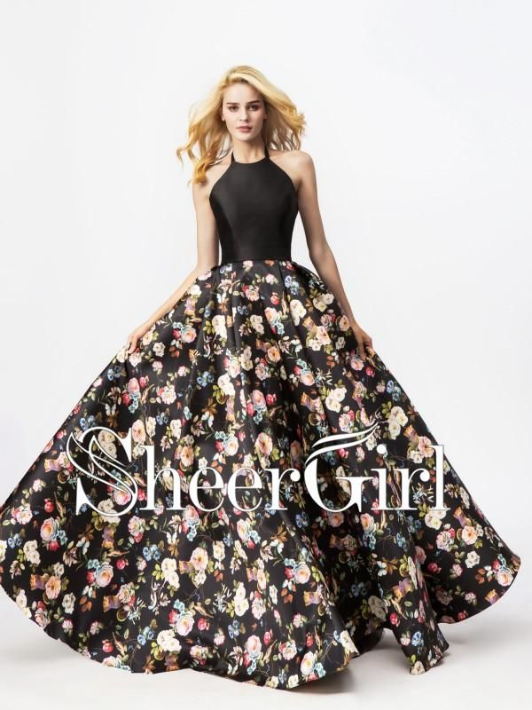 04f7df13a56 Black Floral Printed Quince...