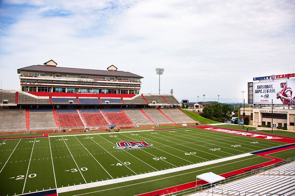 Image Result For Liberty University Football Stadium Football Stadiums Liberty University Stadium