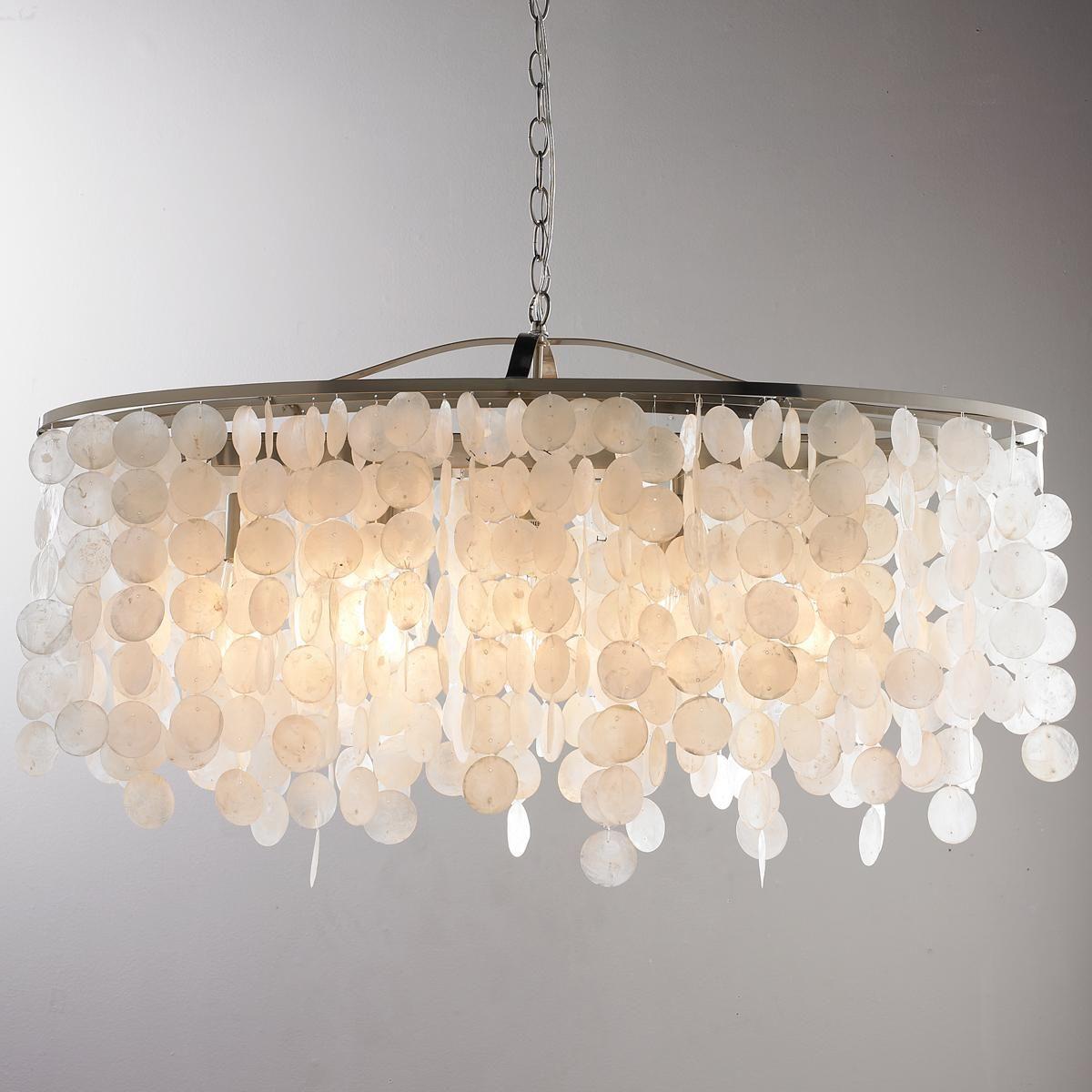 Modern capiz shell linear chandelier linear chandelier nickel modern capiz shell linear chandelier arubaitofo Gallery