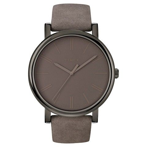 Timex Originals Watch with Leather Strap  - Gray