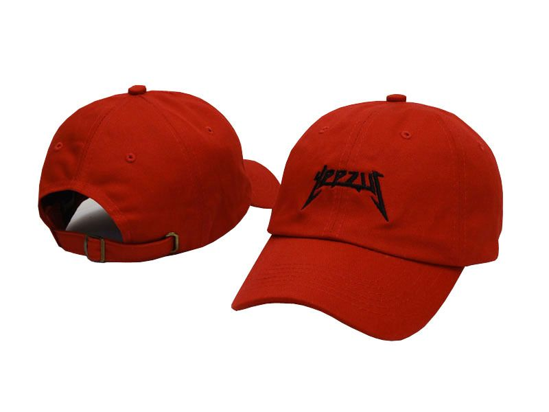c6b15f2cbbe kpop Kanye West yeezys Embroidery 5 panel Snapback Hat Air yeezy boost Red  October Solar 750