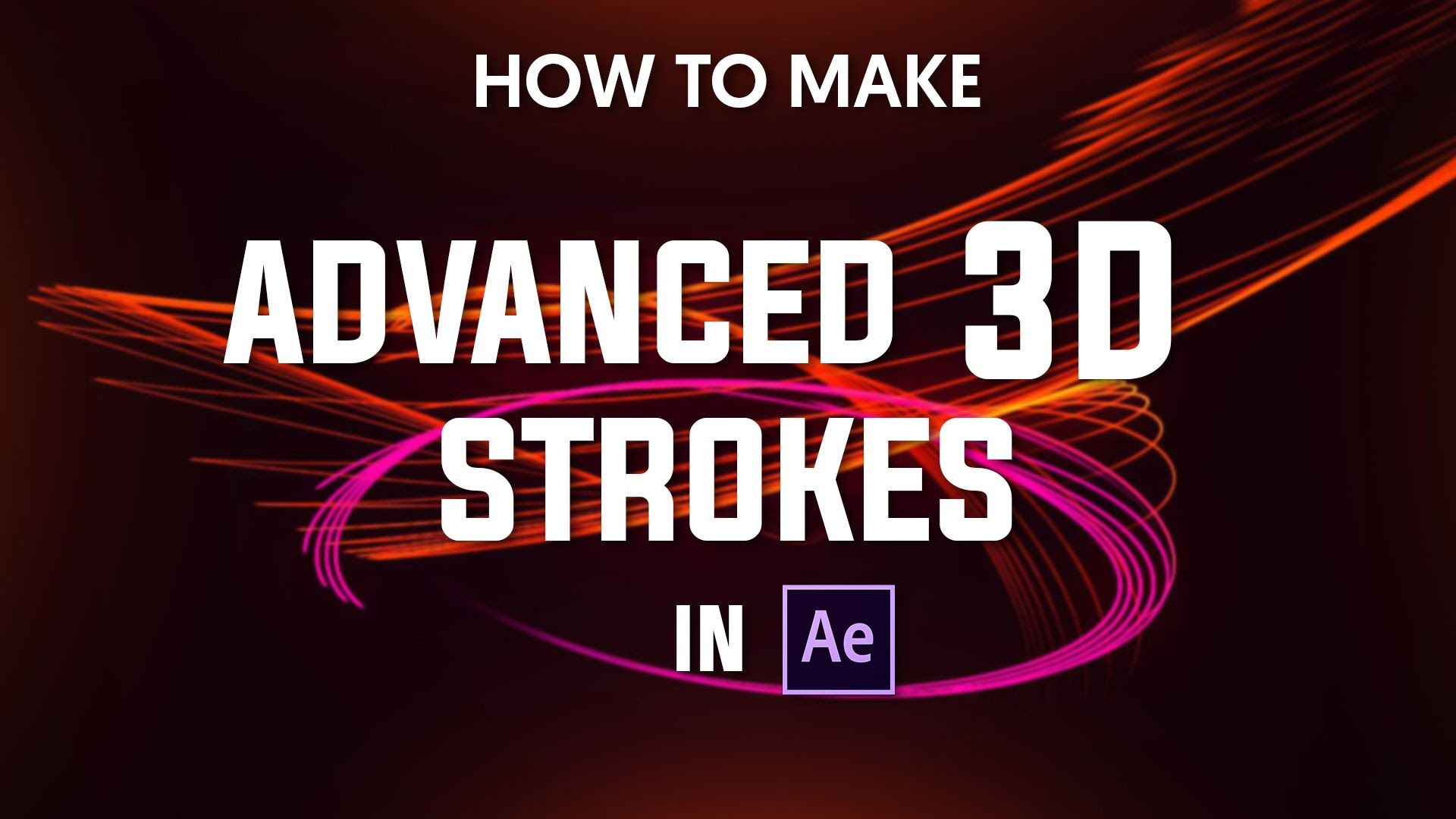 3d poster design tutorial - After Effects Advanced 3d Strokes Tutorial 23 By Dope Motions