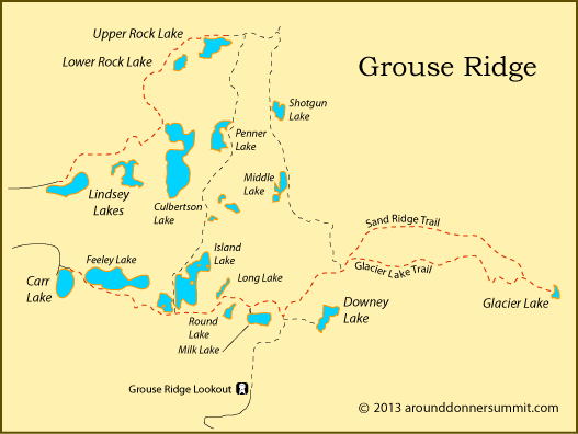map of Grouse Ridge, Tahoe National Forest, CA | Adventures in 2019 Ca National Forest Map on