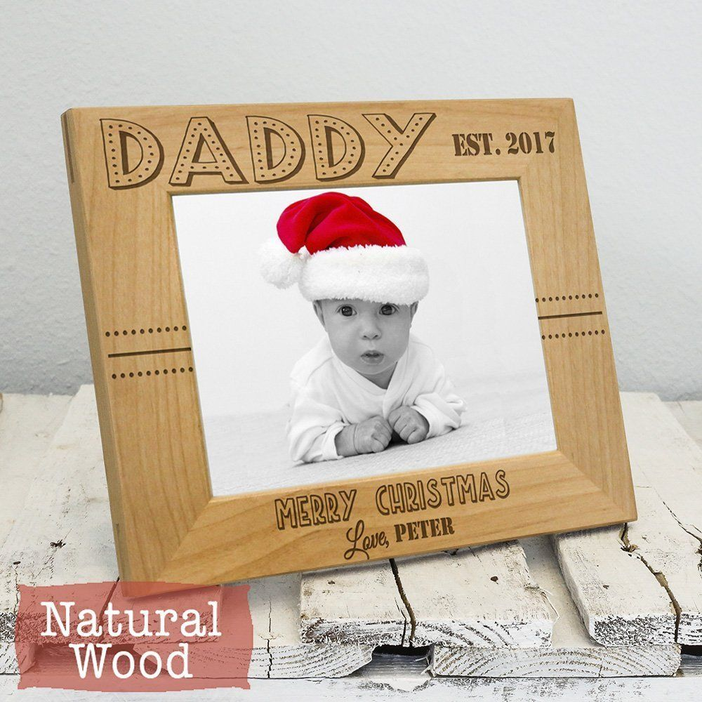 Personalized Picture Frames for Daddy - Christmas Gift for Dad ...