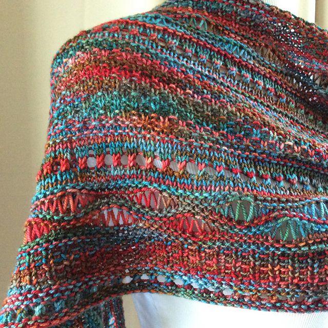 Stitch Sampler Shawl ~ Gorgeous Yarn: free knitting pattern ...